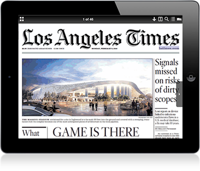 We did not receive our daily e-newspaper from the LA Times. We are in the Eastern Sierra's which has no print edition delivery. Can you resend the email with the link to the LA Times newspaper. We have found the enewspaper a pretty good substitute for the print edition and much superior to the LA Times app. George Smith/5(41).