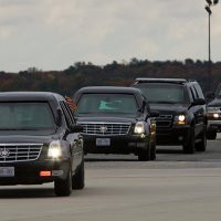 Trump Motorcade Press Van Drivers Abruptly Replaced After Gun Found in Driver's Bag