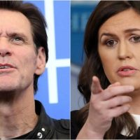 Washed-Up Actor Jim Carrey Tweets Disgraceful Portrait of Sarah Sanders – Twitter Responds