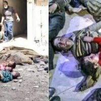 US Backed Syrian Rebels Caught Staging Corpses of Dead Children in Douma to Play on Western Emotions