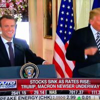 Trump rebukes reporter in front of French president: 'Stupid question!'