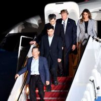History! President Trump Welcomes Home Three American Captives from North Korean Prison Camps