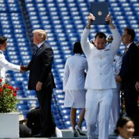 Trump Shakes Hands With All 1,042 Naval Academy Graduates (VIDEO)