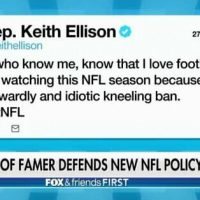 DNC Deputy Chair Keith Ellison Vows to Ban Watching NFL Games Until Players Can Disrespect US Flag, US Anthem and US Veterans Again