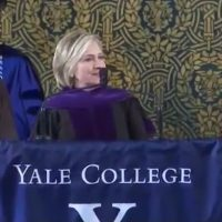Bitter Hillary complains about students not voting, dons Russian hat during Yale graduation speech