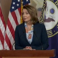 NANCY? Pelosi gibberish, bizarre laughing; stares off during brain freeze