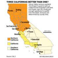 Referendum to split Calif into three states will appear on the November ballot