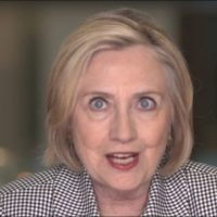 Wild-eyed Hillary complains about being woman in politics in new video