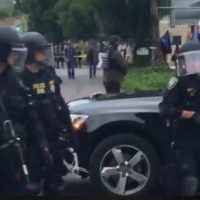 Federal Officers in Riot Gear Move in on ICE Protesters in Portland (VIDEO)