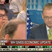 BOOM! Watch Top Economist Kevin Hassett THUMP April Ryan at White House Presser (VIDEO)