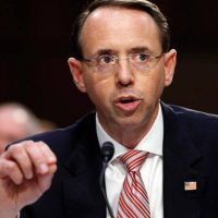 Rod Rosenstein Gives Speech In Canada On How Governments Can Share Intelligence