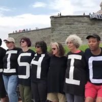 WATCH: The truth behind the 'Abolish ICE' protest at the Statue of Liberty (video)