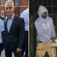EXCLUSIVE: Rahm Emanuel Poses for Picture with Gangbanger Flashing Gang Signs