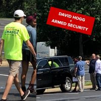 David Hogg protests outside NRA HQ — protected by armed guards?