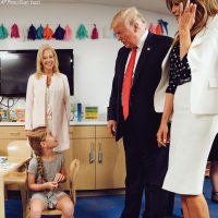 President Trump and Stunning First Lady Melania Visit Kids Hospital in Ohio to Bring Awareness to Opioid Crisis