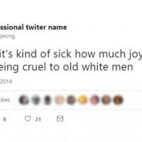 "New York Times Hire: ""It's Kind of Sick How Much Joy I Get Out of Being Cruel to Old White Men"""