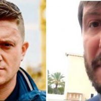 Tommy Robinson Confronts Daily Mail Journalist Who Followed Robinson on Vacation