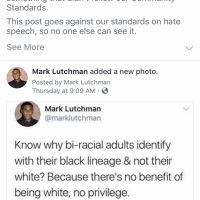 Black Facebook user banned for questioning 'white privilege'; Post 'against standards on hate speech'