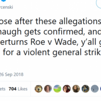 "Violent Threats Emerge From Leftists If ""Kavanaugh Gets Confirmed"""