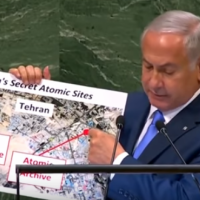 Netanyahu Reveals Iranian Nuclear Warehouse in Rug Cleaning Plant