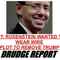 Dirty Cop Rosenstein Denies He Wanted to Secretly Tape President Trump in 2017 — But Signed FISA Doc to Spy on Trump in June 2017