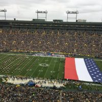 Fans fume after NFL Packers unfurl 'unAmerican' flag for national anthem