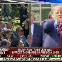 OUCH! Trump Torches Second Reporter – Wags His Finger at Her – For Asking Kavanaugh Question at Historic Trade Presser (VIDEO)