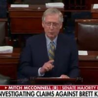 "BREAKING: McConnell Delivers Remarks on Kavanaugh From Senate Floor – ""We'll Be Voting This Week"" (VIDEO)"
