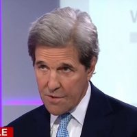 The treasonous head of John Kerry rears again