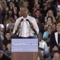 'I GOT A LOT TO SAY': Obama refers to himself 92 times during 38-minute NV speech