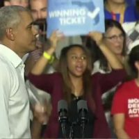 Obama Rattled by Heckler Blowing Whistle at Florida Campaign Stop For Dem Candidates Andrew Gillum and Bill Nelson (VIDEO)