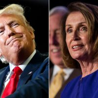 Trump exulting in having Nancy Pelosi as his foil