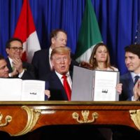 A MAJOR WIN FOR AMERICAN WORKERS! Trump-Trudeau-Nieto Sign America-First North American Trade Agreement — USMCA