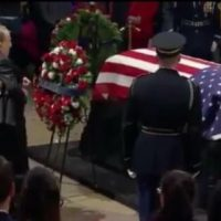 95-Year-Old Bob Dole Helped Out of Wheelchair to Salute Fellow WWII Vet George H.W. Bush (VIDEO)