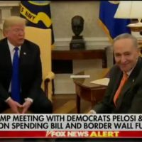 Trump sprang three traps on Pelosi and Schumer yesterday