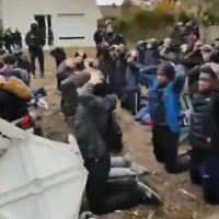 SHOCK VIDEO: French Outraged After Video Released of Massive Police Round Up of Anti-Macron HIGH SCHOOL Protesters (VIDEO)