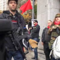 """Are You Willing to Die for Your YouTube Sh*t?"" – Antifa Thugs With AR15's Intimidate Journalist Andy Ngo at Seattle Rally – Police Threaten Arrest for Filming"
