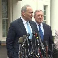 "Cryin Schumer: Trump Threatened to Keep Government Shut Down For ""Years"" (VIDEO)"