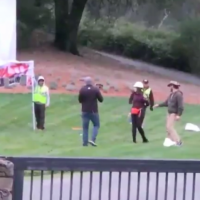 LIVE: Laura Loomer Hops Pelosi's Fence to Protest Open Borders