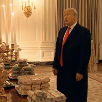 Dinner at the White House: McDonald's, Burger King, Wendy's, and Pizza