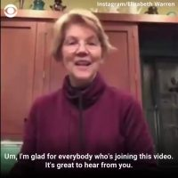 Trump has a grand old time Twitter-trolling Elizabeth Warren…with her own campaign material