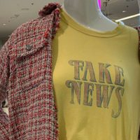 Triggered Journalist Demands Bloomingdale's Pull 'Fake News' Shirt After Getting Offended