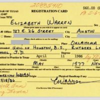 HOLY SH*T! THIS IS REAL! Elizabeth Warren Claimed NATIVE AMERICAN HERITAGE in State Bar of Texas Card — Signed and Dated