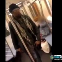 Shock Video: Riders Do Nothing to Help Elderly Woman Brutally Kicked in Head by Thug on New York City Subway; Police Seek Public's Help to ID Perp