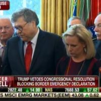 "BREAKING: Attorney General Bill Barr Defends President Trump in Oval Office ""Your Declaration of Border Emergency is CLEARLY AUTHORIZED"" (VIDEO)"