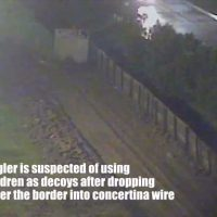 VIDEO: Children dropped over border barrier to distract agents from illegal crossers