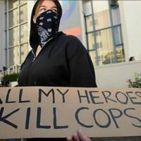 WATCH: Antifa Calls for Death of Cops at Pro-Borders Rally