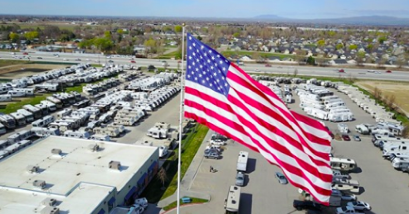 Camping World refuses to stop flying giant American flag
