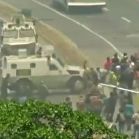 White House Tweets Video of Maduro Regime Running Down Protesters With Armored Vehicle