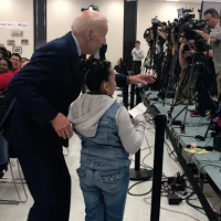 "EEK! Creepy Joe Biden Tells 10-Year-Old Girl at Rally: ""I'll Bet You're as Bright as You are Good Looking"" Then Grabs Her Shoulders"